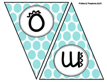 Welcome Banner Pennant - Large Blue Polka Dot