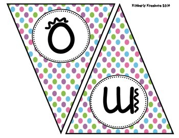Welcome Banner Pennant - Pretty Polka Dots