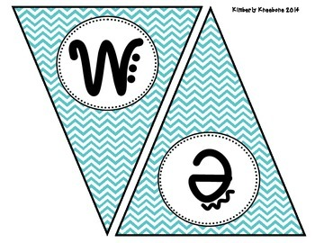 Welcome Banner Pennant - Turquoise Chevron