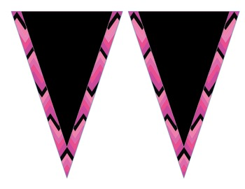 Welcome Banner- Pink & Black Chevron
