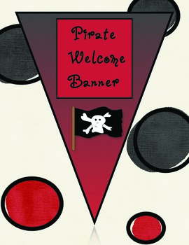 Welcome Banner Pirate Theme