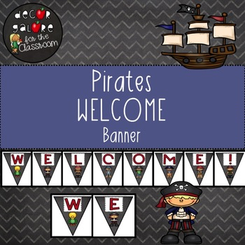 Welcome Banner - Pirates Decor