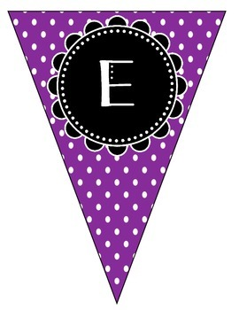 Welcome Banner - Purple Polka Dots