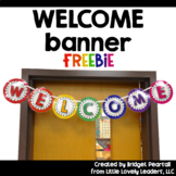 Free Welcome Banner - Primary Rainbow