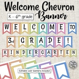 Chevron Welcome to Banner - Back to School Banner