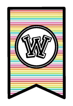 Welcome Banner - Rainbow Stripe