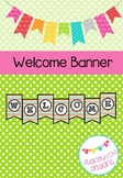 Welcome Banner - Rainbow Stripe