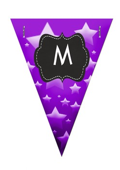 Welcome Banner - Rainbow stars pennants