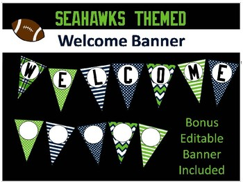 Welcome Banner - Seahawk Themed
