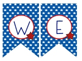 Welcome Banner-Stars and Stripes