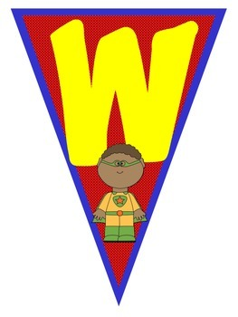 Welcome Banner {Super Hero Themed}