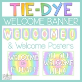 Welcome Banner, Tie Dye Theme Welcome Banner