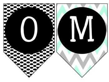 Welcome Banner! {Turquoise, Black, & Grey}