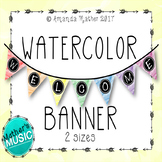 Welcome Banner - Watercolor