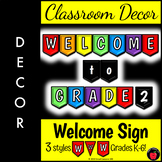 Welcome Banner: Welcome Back to School Colorful Classroom Decor: Bulletin Board
