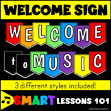 Welcome Banner: Welcome to Music Colorful Classroom Decor: Music Bulletin Board