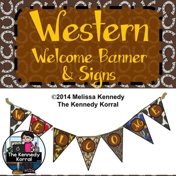 Welcome Bunting {Western Banner}