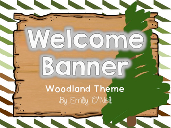 Welcome Banner (Woodland Theme)
