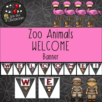 Welcome Banner - Zoo Animals Decor