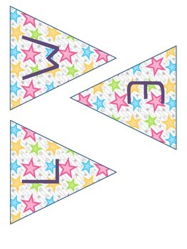 Welcome Banner and Name Tags- Two Sizes- Star Theme- FREE!
