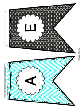 WELCOME BANNER WORD WALL Aqua Black Theme Classroom Decor
