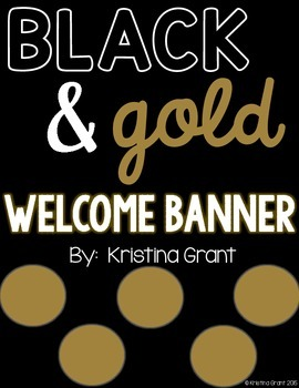 FREE Welcome Banner {black and gold}