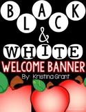 FREE Welcome Banner {black and white}