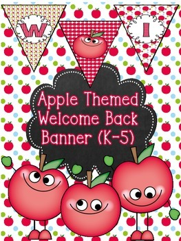 Apple Themed Welcome Banner for Back to School (K-5) FREEBIE