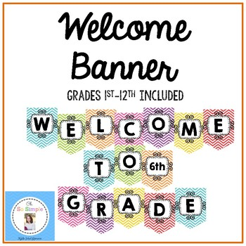 Welcome Banner for Grades 1-12!