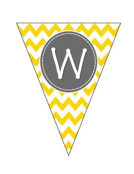 Welcome Banner in Yellow Chevron K-5