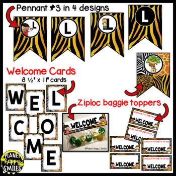 Welcome Banner in a Jungle/Safari Theme