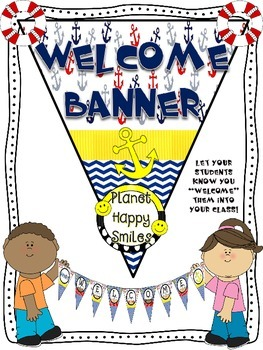 Welcome Banner in a Nautical theme