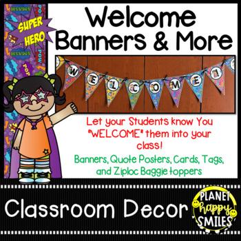 Welcome Banner ~ Super Hero Theme