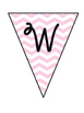 Welcome Banner - light pink chevron