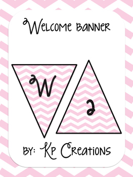 Welcome Banner - light pink chevron