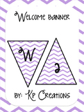 Welcome Banner - violet chevron