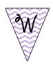 Welcome Banner - violet chevron