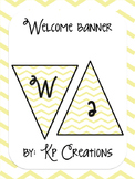 Welcome Banner- yellow chevron