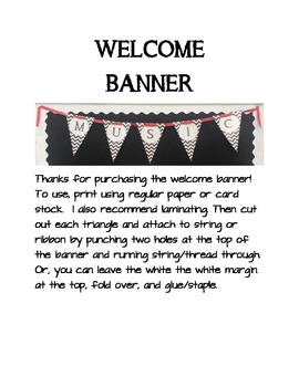 Welcome Banner/Bunting