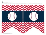Welcome Banners Chevron Baseball Theme