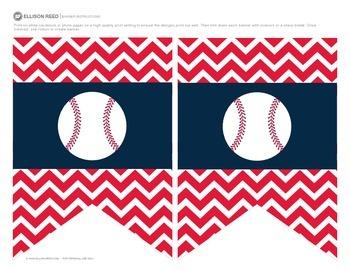 Welcome Banners Chevron Baseball Theme