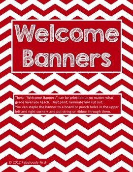 Welcome Banners!