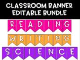 Classroom Banner Bundle | EDITABLE