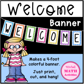 Welcome Banner (Polka Dots or Stripes)