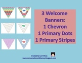 Welcome Banners- Set of 3