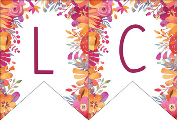 Welcome Banners: Watercolor Floral Design