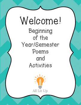 Welcome! (Beginning of the year or semester activity)