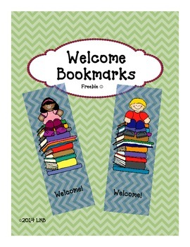 Welcome Bookmarks {FREEBIE}