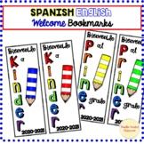 Welcome Bookmarks Spanish Kinder Primer Grado