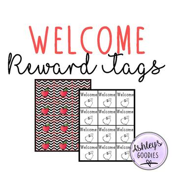Welcome Reward Tags! FREE!